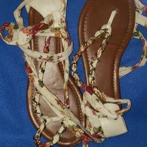 Elle Shoes - KOHLS ELLE WRAP STRAP SANDALS SIZE 8 M